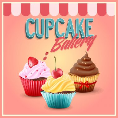bakery shop with cupcakes