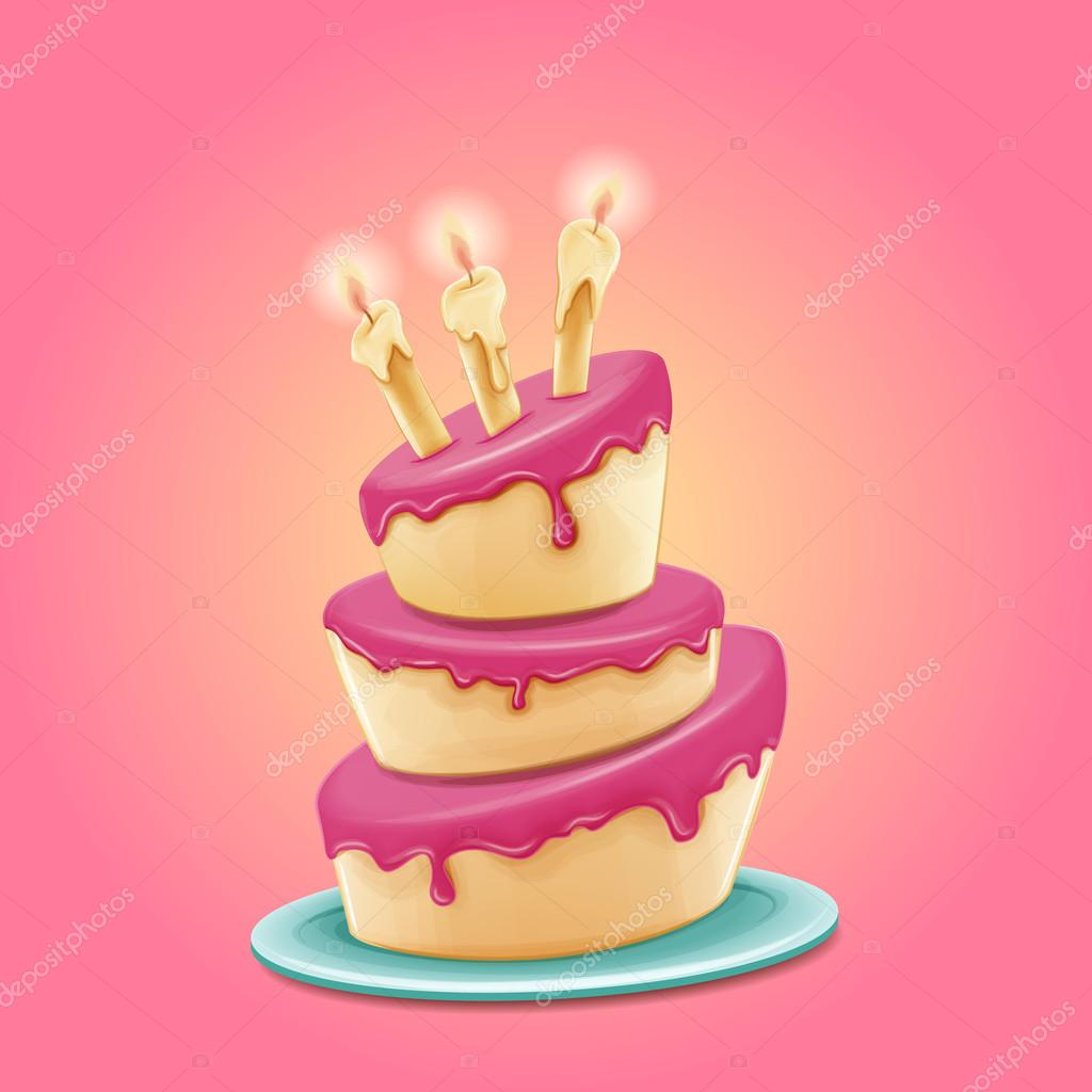 happy birthday cake — Stock Vector © mollicart #92027578