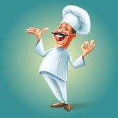 Šéfkuchař muž nápis