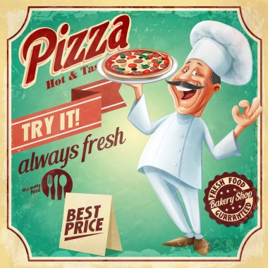 chef pizza banner