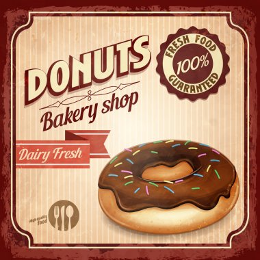 donuts vintage background