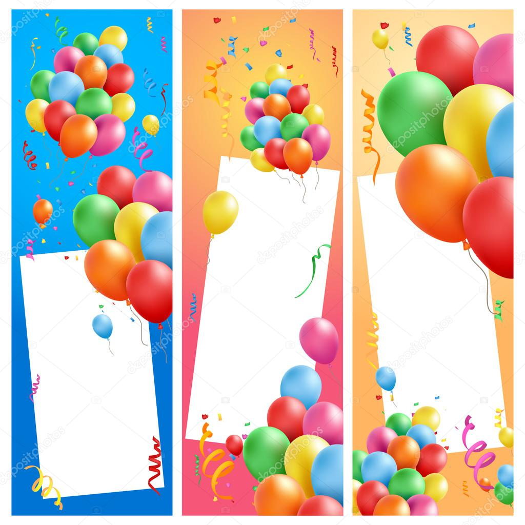 happy birthday frames — Stock Vector © mollicart #94273618