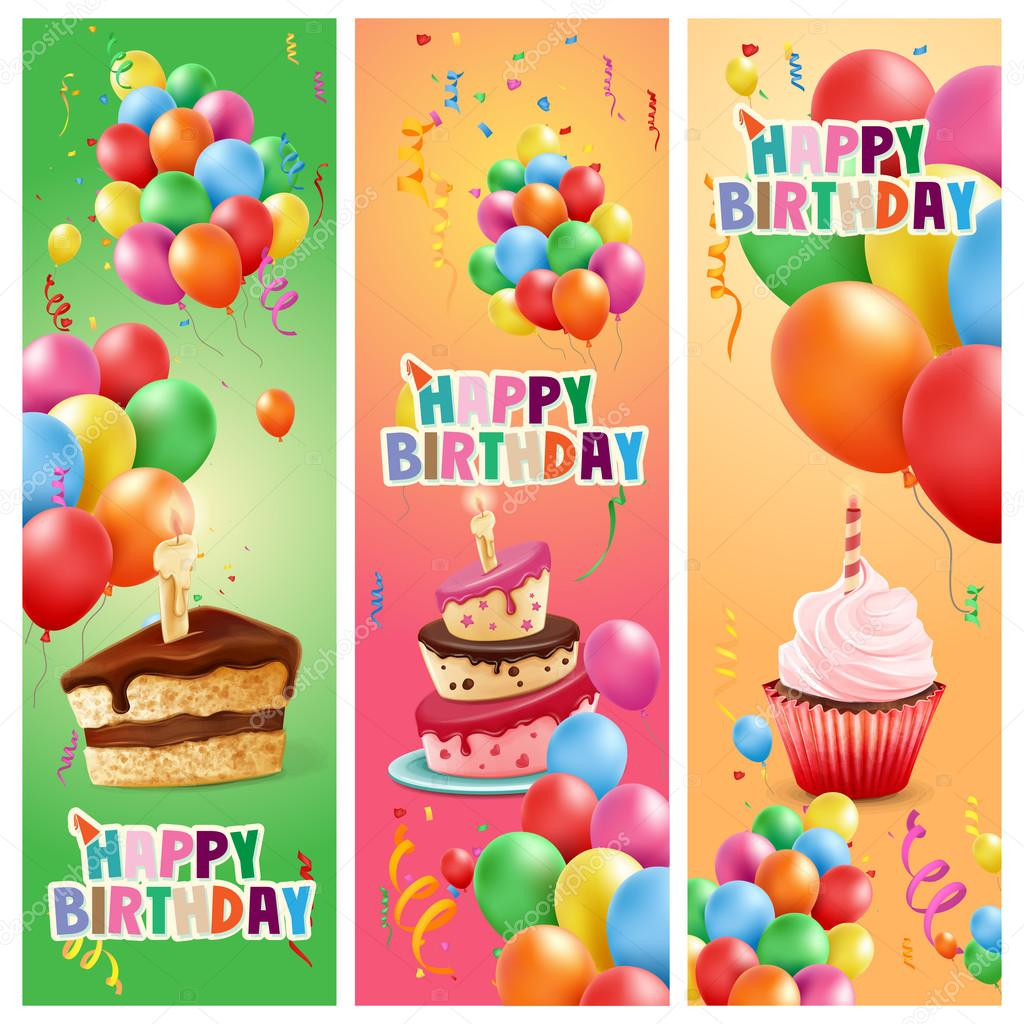 happy birthday frames — Stock Vector © mollicart #94273626