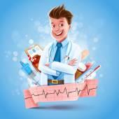 Arzt banner Gesundheitsfürsorge