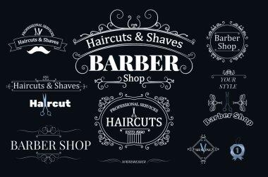barber shop logotypes
