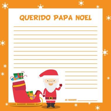 Papa Noel letter template
