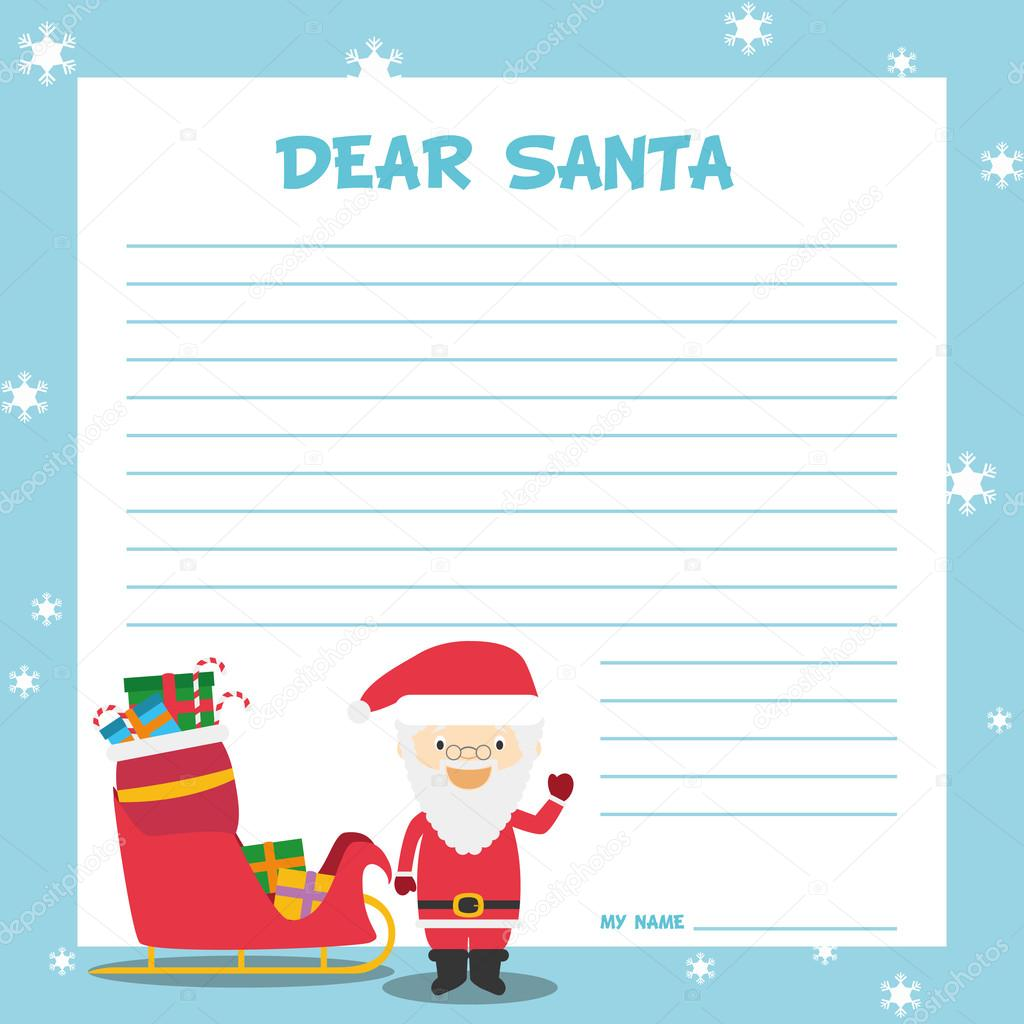 Santa claus letter template stock vector asantosg 90946238 santa claus letter template stock vector spiritdancerdesigns Image collections