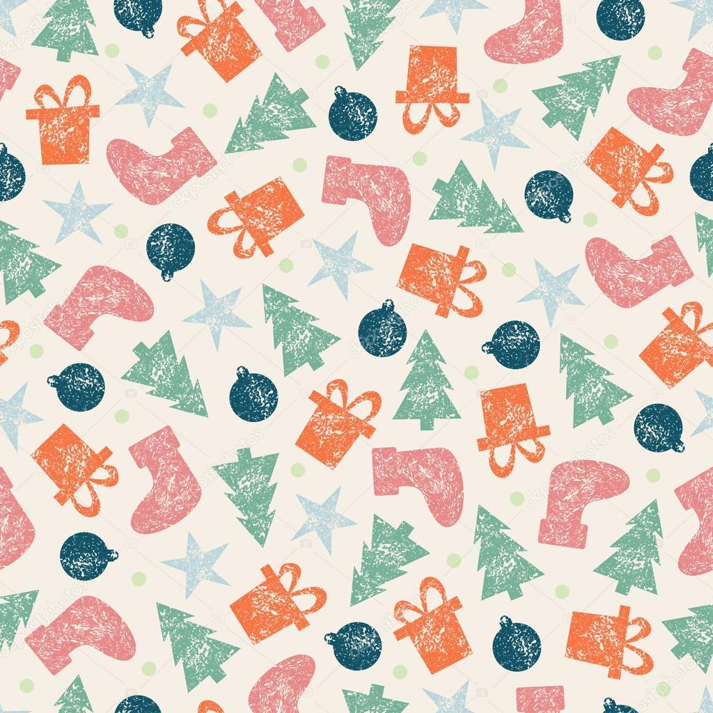 Navidad Navidad Vintage Patron Transparente Para Papel De Regalo De - Vintage-navidad