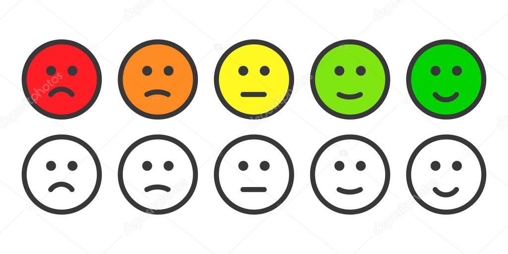 Emoji icons for rate of satisfaction level