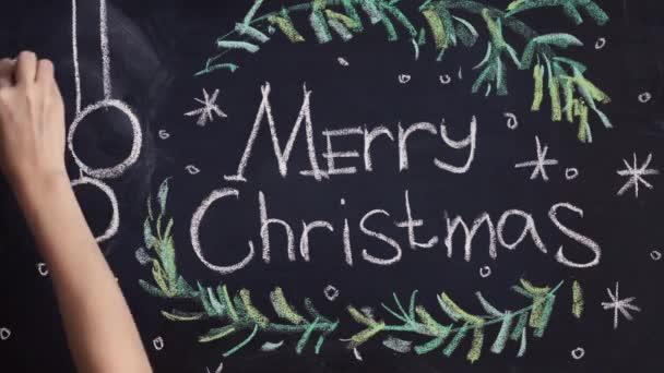 chalkboard background for Merry Christmas celebration
