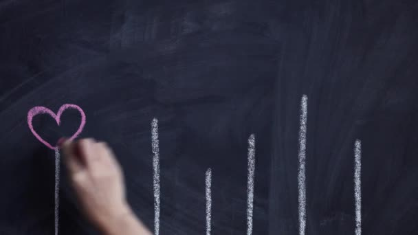 male hands involves drawing light bulb on chalkboard. toning. selective Focus