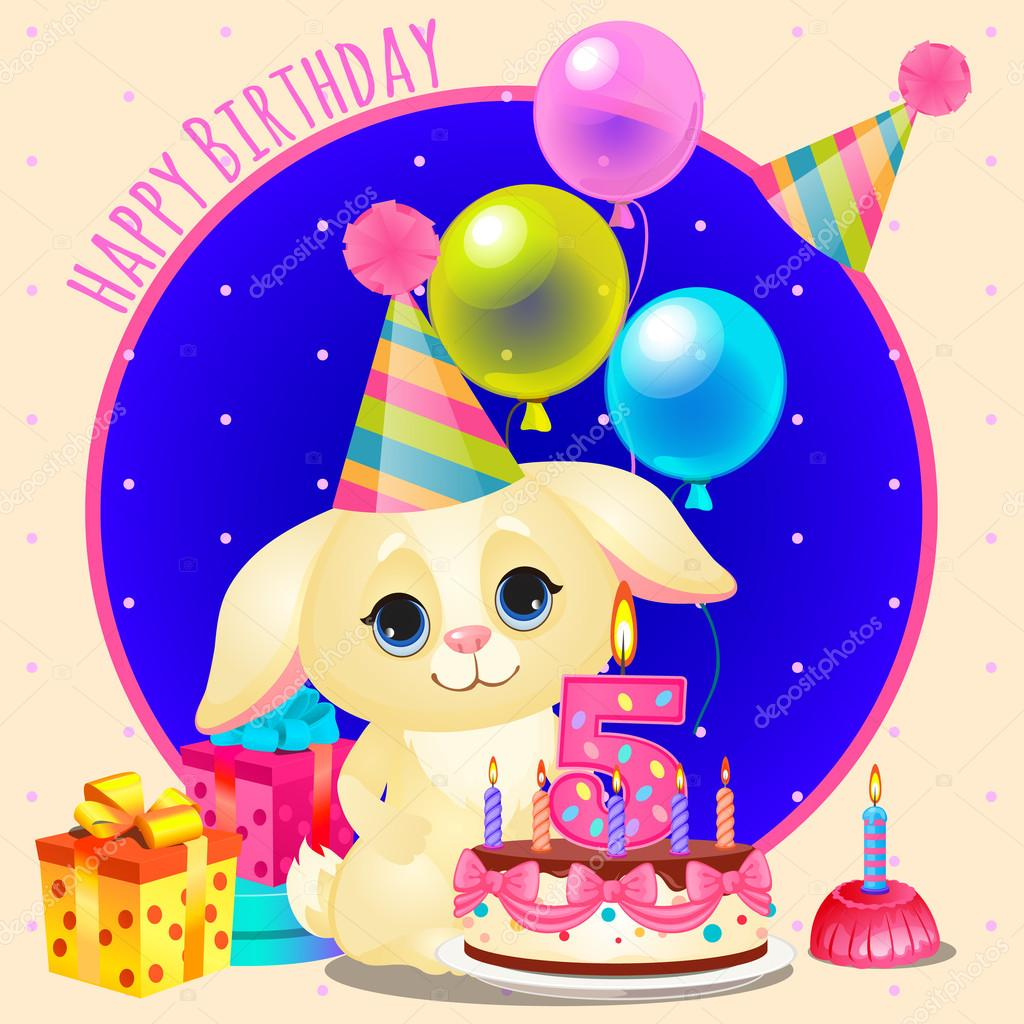 Happy birthday greeting card with cute dog stock vector happy birthday greeting card with cute dog stock vector kristyandbryce Image collections