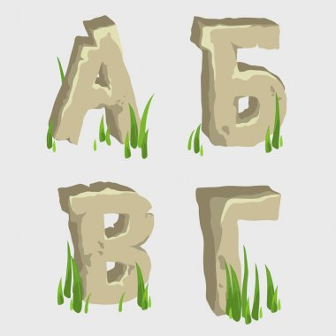 First four letters of the Russian alphabet