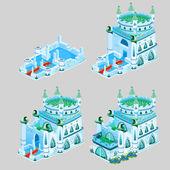 Etapy stavby ledové království, čtyři ikony