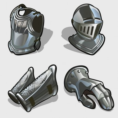 Four elements of knights armor