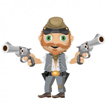 Cheerful southerner, cartoon character