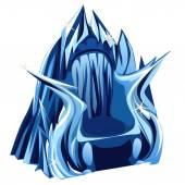 Královský trůn Gothic ledu, obraz ve stylu kreslených