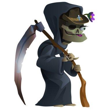 Old female skeleton, the grim Reaper