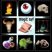 Készlet-ból kilenc eszközök és trófeák varázsló