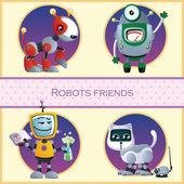 Roboti přítel, čtyři kreslená postava