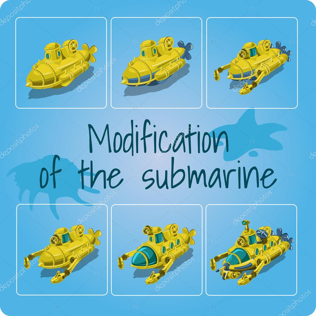 Modification of the submarines, six icons