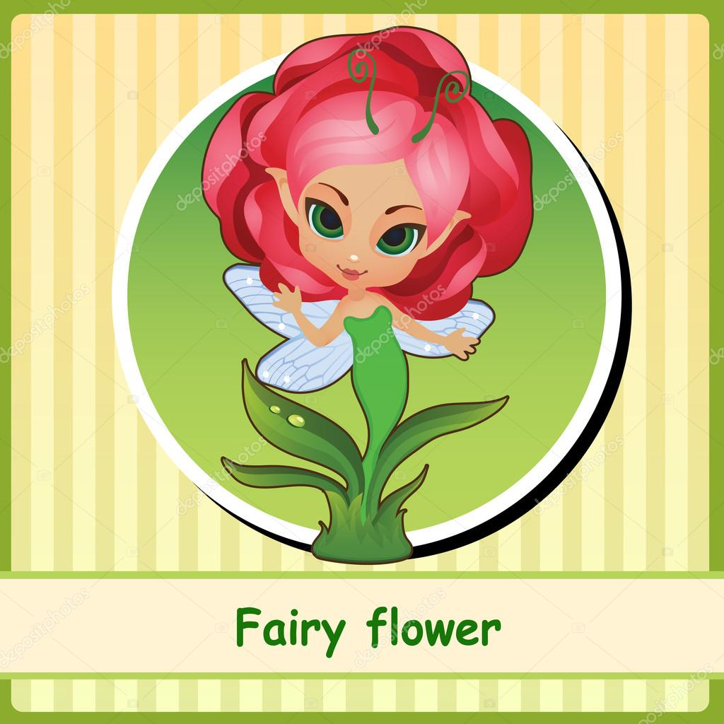 Fairy flower - hand-drawn illustration