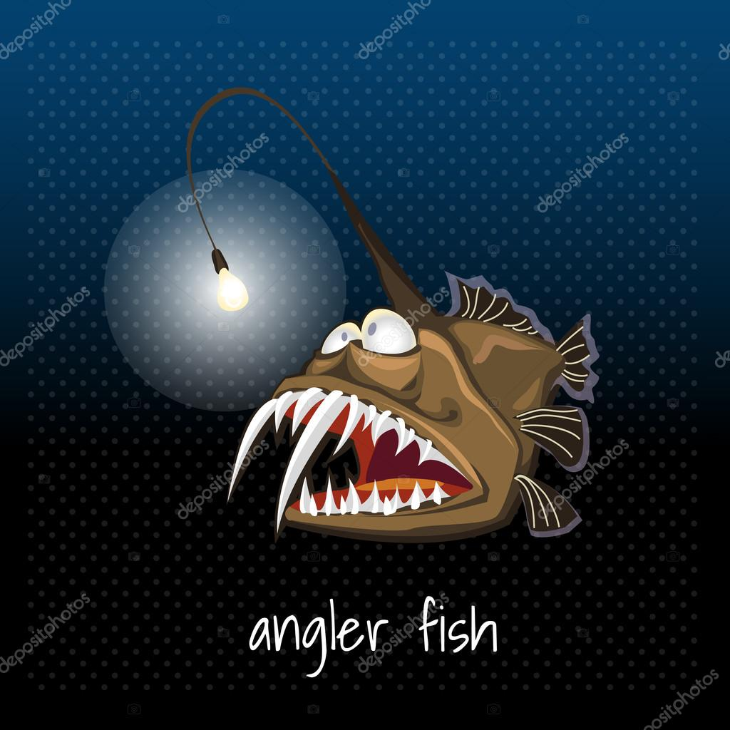 Angler fish with a lantern, monkfish, sea devil