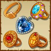 Fényképek Klasszikus és antik gyűrűk, drágakövek és szimbólumok