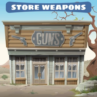 Antique weapon shop in the wild West