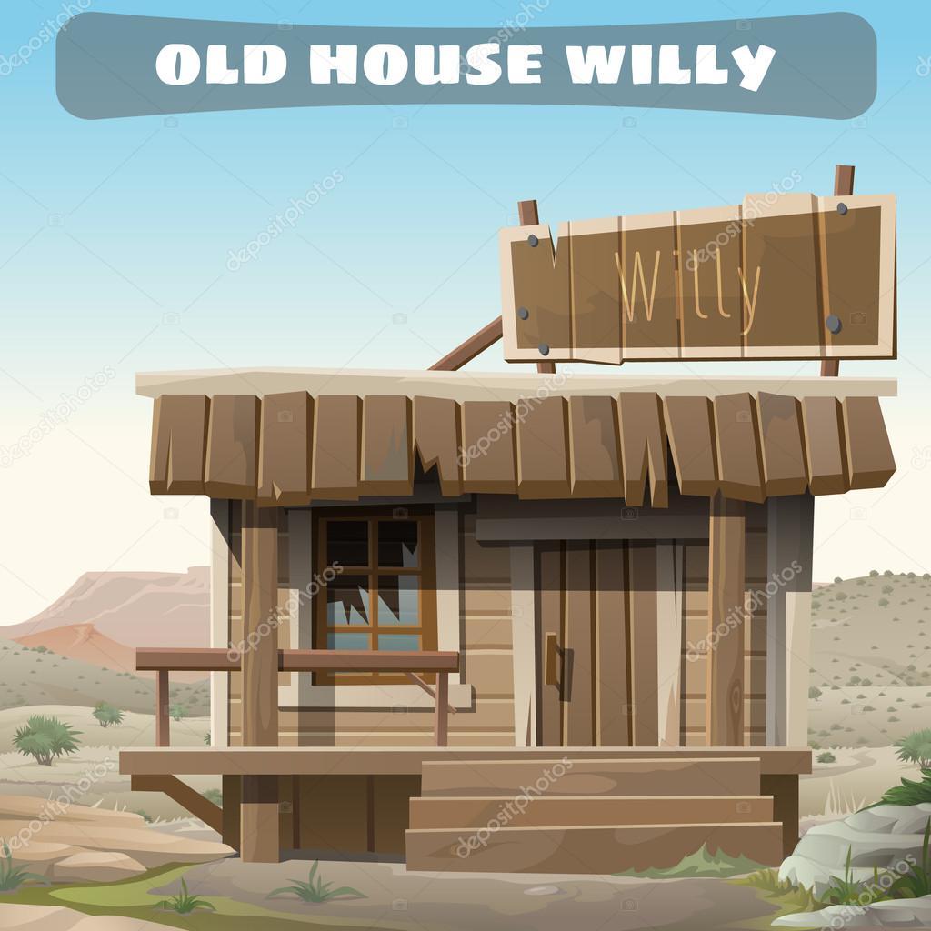 Velha e abandonada casa de um cowboy no velho oeste for House of 950