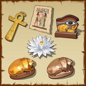 Fotografie Altägyptische Symbole und Dekorationen