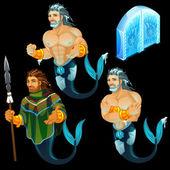 Tři obrazy Triton a ledu brána