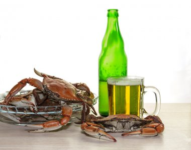 The crabs and beer
