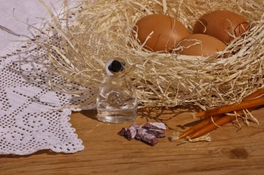 The easter composition