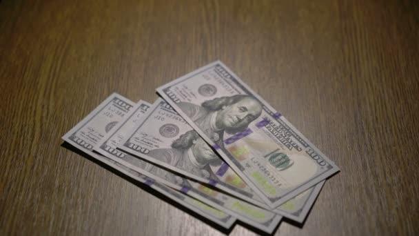 falling money close-up. 4k