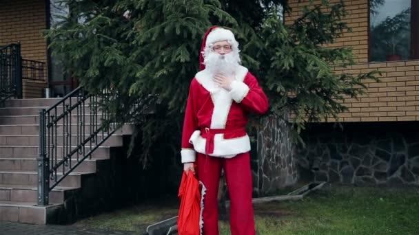 Santa claus poblíž stromu