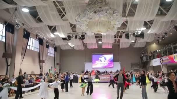 UKRAINE, TERNOPIL, MARCH 12, 2016: dancers in the ballroom dancing
