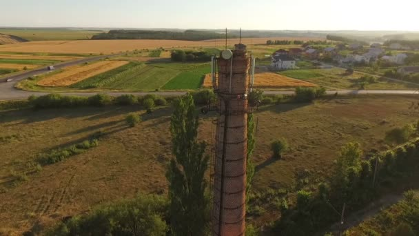 Aerial view of a blast furnace