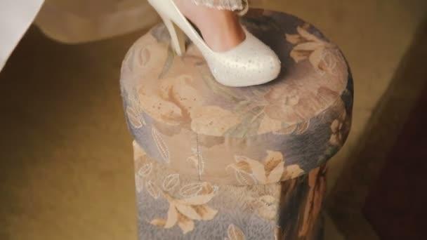 Brides garter the bride wears on her leg garter