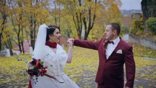 Good autumn wedding couple