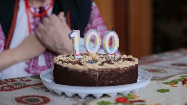 Happy grandmother, her 100 years