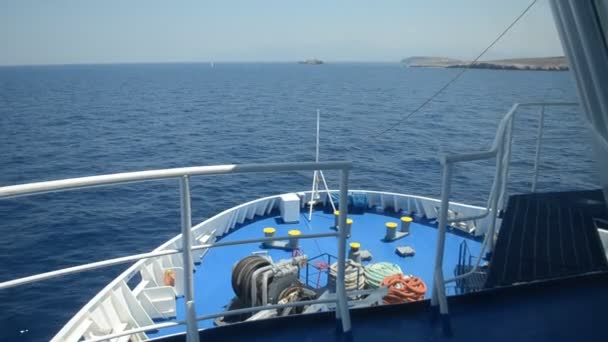 ferry travelling from Santorini to Naxos