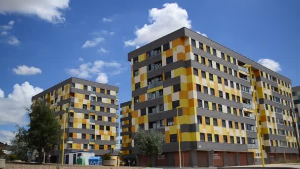 moderní budovy v Madridu