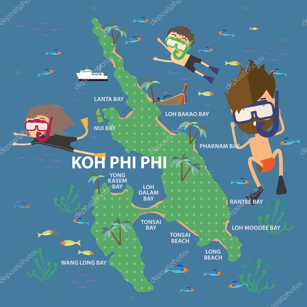 Travel To Phi Phi Island Thailand Stock Vector C Sajja 92412800