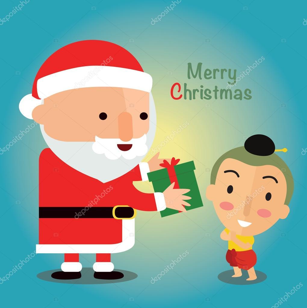 Buon Natale Bambini.Buon Natale Con I Bambini Thailandia Vettoriali Stock C Sajja