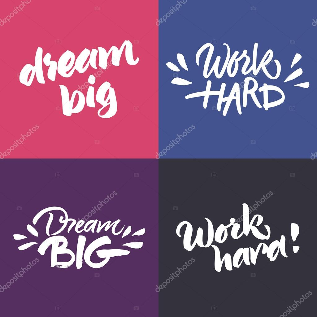 Inspirational Phrases Set Of Inspirational And Motivational Quotes  Stock Vector