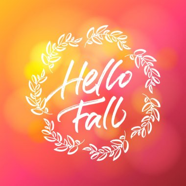 Hello fall greeting card