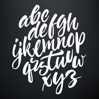 Vector handwritten brush script