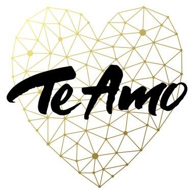 Love card design Te Amo