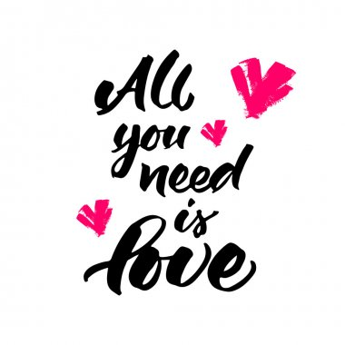 Hand lettering: All you need is love